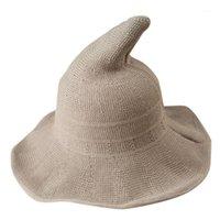 Шляпы, шарфы перчатки наборы Хэллоуин ведьма бассейна шляпа волшебника женщины зимняя бумага Разнообразие стилей, высокое качество 20211