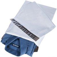 50 adet 22 * 30 cm 100% Yepyeni ve Yüksek Kaliteli Beyaz Kendi Kendini Mühür Posta Çantaları Plastik Zarf Kurye Yıkıcı Posta Posta Çantaları1