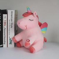 LED Light Up Unicorn peluche Jouets de Noël Anniversaire Cadeaux Saint-Valentin pour les enfants bande dessinée 30cm jouet licorne