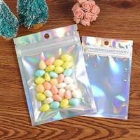 ABD Stok Lazer Renk Alüminyum Folyo Kendinden Yapışkanlı Perakende Çanta Şeker Kurabiye Mylar Folyo Paketleme Kılıfı Bakkal El Sanatları Ambalaj Express Çanta Için