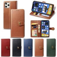 الفاخرة فليب بو الجلود المحفظة الحالات الهاتف الخليوي لفون 12 برو سامسونج غالاكسي S20 Fe ملاحظة 20 Xiaomi X3 NFC Folio Covers