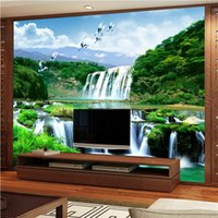 beibehang custom photo mural papel de parede 3d Luxury Quality HD Crane Falls natural beauty of the landscape 3d large wallpaper