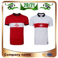 20/21 Spartak Moscow Soccer Jersey 2020 Spartak Home Red Promes Bakaev Zobnin Schürrle Dzhikiya قمصان White كرة القدم