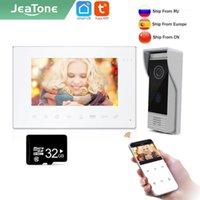 Video-Door-Telefone JEATONE TUYA SMART 7-Zoll Wifi-Intercom für Startseite Nachtsichtgerät Türklingel-Kamera-Überwachungssystem-System Unit1