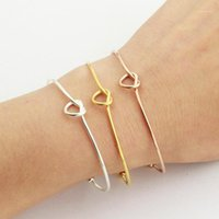 Personnage individuel à la mode sous contrat est Classique Bracelet en serrure du coeur de fer à repasser Bracelet en acier inoxydable Femme Style1