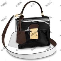 Moda Womens Ombro Bag Estilo Clássico Patente De Couro Design de Alta Qualidade Senhoras Totes Bolsas Mini Top Lady Bolsa Bolsa