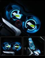 2 PCS 슈퍼 LED 자동차 컵 홀더 조명, 7 색 17 조명 모드 USB 충전 매트 발광 컵 PADT (BMW M에 대 한)