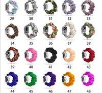 76 Kolory do zespołu Apple Zegarek Bransoletka z wzorem Leopard Camo Rainbow Solid Pasek do Iwatch 4/3/2/1 38mm 40mm 42mm 44mm