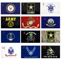 米軍の国旗USMC 13スタイル送料無料直接工場卸売3X5FTS90X150CMエアフォーススカルガッドデン迷彩アーミーバナー米海兵隊