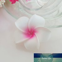 100 stks 4 cm Hawaiy 5 kleuren Real Touch Kunstmatige PE Plumeria Bloemhoofden DIY Bruiloft Hoofdwaren Decoratie