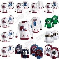 2021 Reverse Retro Colorado Avalanche Jersey 25 Logan O'Connor Cale Makar Nathan Mackinnon Nikita Zadorov Hockey Jersey 사용자 정의 스티치