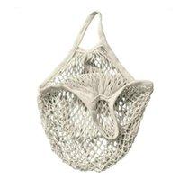 Торговые сумки складные фрукты многоразовые экологически чистые сетки чистый портативный сумка Tote открытый сумочки большая емкость хлопок Blend1