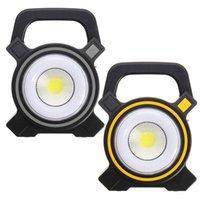 태양 램프 전원 USB 휴대용 30W 투광 조명 외부 조개 COB 충전식 LED 홍수 빛 야외 작업 스포트 램프 2400lm