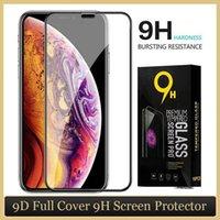 Avec le package de détail 9D Plein couverture Verre trempé pour iPhone 11 Pro Max XS XR x 6 7 8 Plus protecteur d'écran SE2