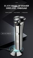 USB ricaricabile Rasoio elettrico del rasoio impermeabile display testa LED asciutto bagnato 3D Beard Trimmer lavabile Rasatura Macchina per gli uomini