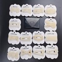 Birçok Takı Pearls Firkete Seti Şık Asetat Plakalı Saç Klipler Karışık Farklı BB Sweet Moda Tasarımcısı Kadınlar Kadın Saç Katılımını Klip