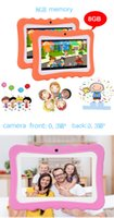 Q7 HD screen 7 inch 1+8G Quad Core children tablet Android 4.4 wifi bluetooth player speaker kid Puzzle learning tablet
