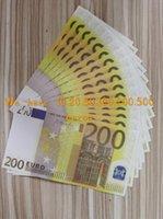 Realistisches Spiel Geld Gefälschte Kopie Sammlung Geldfilm Die meisten Geld Banknote Business Stütze für Papier Nachtclub 200Euros 28 Uipji