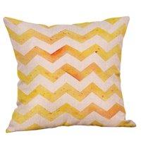 Lino o un'immagine giallo Twill Grey Cuscino Copricuscino decorativa domestica Stile Nordico geometrico 45x45cm AAF2733