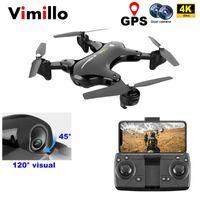 Vimillo GPS-Drohne mit 4k Weitwinkelkamera-Professional 5g Wifi FPV-Höhenhaut Selfie RC Quadcopter Spielzeug vs SG906 PRO E520S1