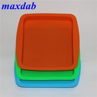 factory price Deep Dish square Pan Non Stick Silicone Container Concentrate Oil BHO silicone tray Popular smoking accessories Rolling Tray
