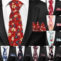 عارضة جديدة الزهور العلاقات القطن والجيب ساحة مجموعات طباعة زهرة نحيل ربطة العنق للرجال الرجال الرقبة التعادل ربطة عنق 6cm وسليم رابطات العنق