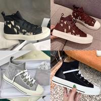 Дизайнерские Обувь Женщины Трикотажные Обувь Высокая Верхняя Кроссовка Синяя Техническая Особание Walk'n'n 'Sneaker Черная красная сетка Ткань Холст Тренер Бегун