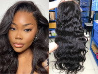 Best selling body wave human hair front lace wig 10A quality...