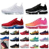 قمة ثلاثية أبيض أسود USA الصيف الوردي 2020 تينيسي زائد النساء الرجال الاحذية حجم الولايات المتحدة 13 TNS تنس الرجال المدربين أحذية رياضية يورو 47