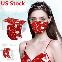 Winter Christmas Adult And Child Mask Disposable High Quality Non-woven Mask 3Ply Earhook Bandage Dust-proof Masque within 24 Hours