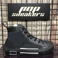 En Kaliteli Retro Tuval Moda Sneakers Vintage B23 Yüksek Düşük Top Obliques Lüks Tasarımcılar Ayakkabı Bayan Açık Platformu Rahat Ayakkabılar