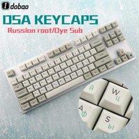 Boya Alt DSA Profil Rus Kök Kalın PBT Keycaps Mekanik Oyun Klavye için Set Anne Pro 2 GK61 AKKO 3087 ASNI 87 1041
