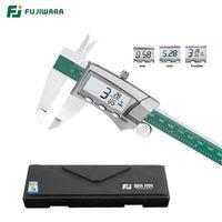 Fujiwara 0-150mm العرض الرقمي الفولاذ المقاوم للصدأ الفرجار 1/64 الكسر / مم / بوصة lcd الالكترونية vernier الفرجار T200602