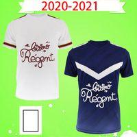 20 21 Girondins de Bordeaux 축구 유니폼 2020 2021 maillot de foot BRIAND S.KALU KAMANO BENITO DE Oudin 남성 BASIC 축구 셔츠