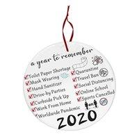 Ornamento de la Navidad 2020 hedor apestaba apestaba Decoración fiesta de Navidad con la mascarilla colgando colgante regalo NUEVO