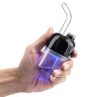 Kit Rig Huuka Wax Dabber Concentrado vaporizador completa Cerâmica Aquecimento câmara de vidro da tubulação de água TC seco Herb eNail Dabcool W2 SOC elétrica Dab