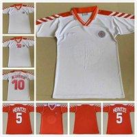 1992 Retro Danimarka Futbol Forması 1998 # 10 m.laudrup # 5 Heintze Dönüş Futbol Gömlek # 11 B.laudrup Antik Maillot