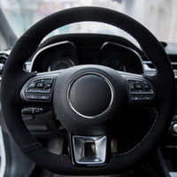 Hand Nähen Auto Lenkradbezug Suede Wrap Braid auf dem Lenkrad für MG ZS HS 2017 2018 2019 2020 MG GS 2016-2020