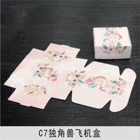 20 unids Caja de papel floral artesanía hecha a mano joyería de joyería regalo de boda caja de envasado 20pcs artículos florales con precio h jllwxh