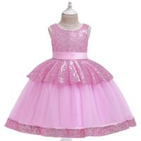 2020 Baby-Prinzessin-Kleid Sommer-Kind-Hochzeit Geburtstag Partei Teenager Blumenkleider Kinder Elegante Weihnachtskostüm