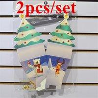 2PCS في مجموعة عشية عيد الميلاد أبل صناديق المنزلية الديكور التعبئة حقيبة حلوى عيد الميلاد هدية مربع عيد الميلاد شجرة عائلة الحاضر ورقة حقيبة A12