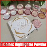 Belleza Cara Maquillaje Rose Resaltado Polvo Al horno Contorno Potencia Face Bronczers y resaltadores Alrededor de resaltar Powder 6 colores