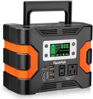 Nueva central eléctrica portátil, generador solar de flashfish 81000mAh con 110 V CA / CC / USB / Puerto de PD-Tipo-C / Puerto de Coche / Luz SOS, Paquete de batería de respaldo