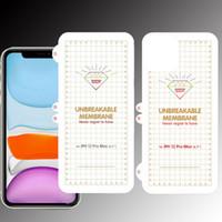 Protecteur de l'écran de TPU de membrane incassable pour iPhone 12 Mini11 Pro Max Huawei Mate 40 Pro LG Wing 5g Velvet Samsung S20 Fe Fil