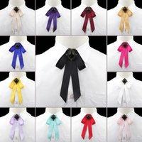 حار بيع النساء بنات الحرير القوس العلاقات أزياء جميلة الشريط الصلبة اللون الفراشة بووتيس ربطة عنق الرقبة خمر إكسسوارات ملابس