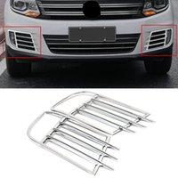 Accessori auto nebbia anteriore della lampada della luce posteriore della cornice Sticker copertura della pagina decorativi cromati esterni per VW Volkswagen Tiguan 2011-2017