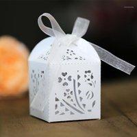 50P laser hollow janela grade casamento caixa de doces gelo branco pérola folha de casamento folha de papel de chocolate caixa de papel de chocolate sacos 5z1