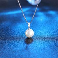 Collar de perlas de imitación 925 l Colgante Collar Gargantilla con cadena de plata barato de la joyería al por mayor de collares de plata