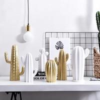 Objets décoratifs Figurines Nordic Minimaliste Cactus Moderne Cactus Résine Accessoires Année Décorations 2021 Accueil Décoration