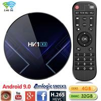 HK1 X3 Android 9.0 Amlogic S905X3 TV BOX 4 GB + 32 GB Dual-Wifi 2.4G5G BT4.0 Caja de tv android PK TX6 H96